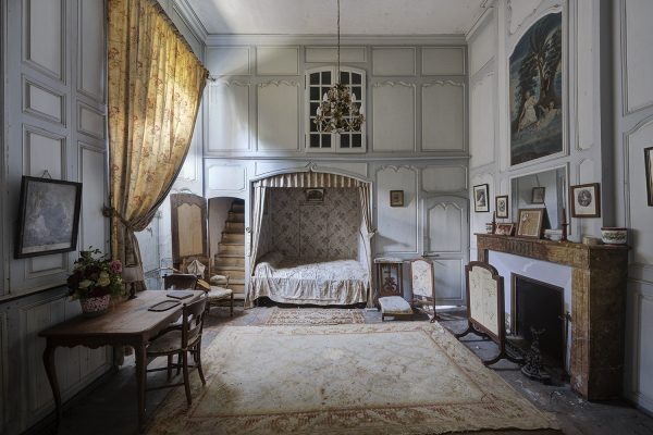 neglected French castle