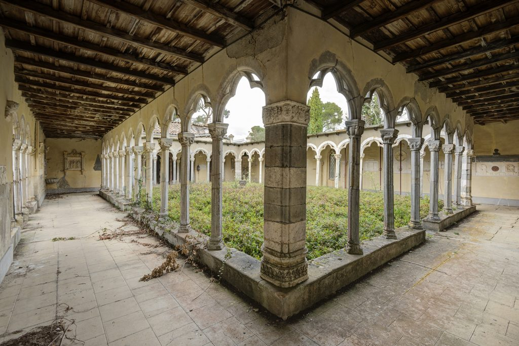 old abandoned cloister